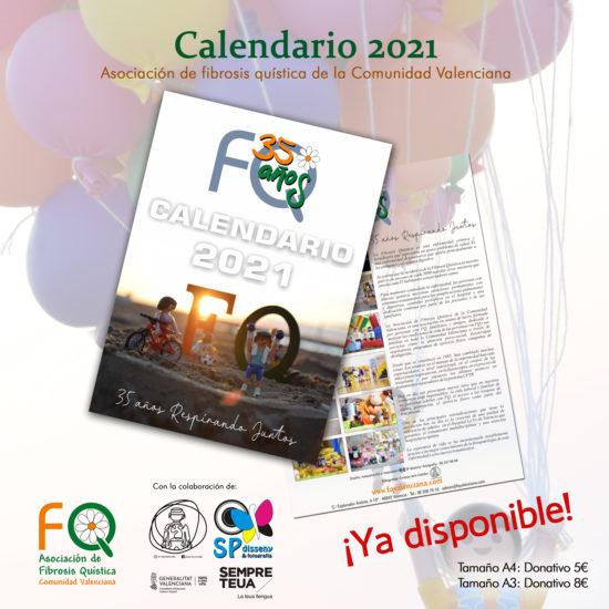 Imagen del calendario de la Asociación para el 2021